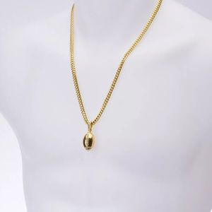 Accessories new 14k gold plated football pendant cuban chain accessories new 14k gold plated football pendant cuban chain aloadofball Image collections